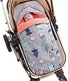 Bebé Saco de Dormir 2.5 Tog, 88 * 46cm Ajustable Invierno Saquito de Dormir con Capucha Desmontable Hombreras Niños Anti-choque Mantas Envolventes con Bidireccional Cremalleras 0-3 Años