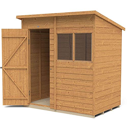 Forest Garden Overlap Dip Treated 6x4 Pent Shed