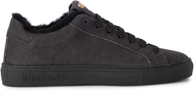 Hide &Jack Essence Croco svart mocka mocka mocka och Sheepsky skor, Storlek UK   Kvalitetssäkring