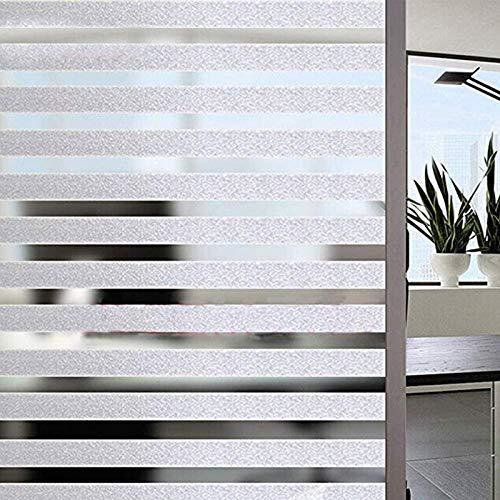 Arthome dekorative Privatsphäre Fensterfolien ohne Klebstoff Nicht klebende selbst statische haften Anti UV abnehmbar für Wohnzimmer Schlafzimmer Badezimmer Küche Büro (60 x 254 cm, AH042)