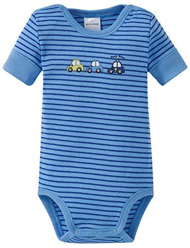 Schiesser Schiesser Baby-Jungen Polizei Body 1/2 Strampler, Blau (Blau 800), 68