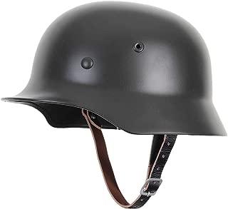 XYLUCKY Reproducción WW2 German Army M35 Steel Helmet con Forro de Cuero y Correa para la Barbilla