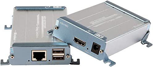 Mirabox KVM 80m HDMI Extender con USB sobre CAT5/5e/6/6e Solo Cable LAN Sin Pérdida Sin Latencia Sin Demora Lossless No Latency No-Delay para DVR DVD Teclado y Ratón De Soporte para Cine En Casa