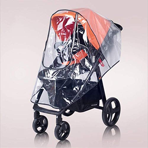 HFJKD Universal Baby Stroller Rain Cover, Baby Buggy Rain Cover for Pushchair Pram with Zip Wind Dust Shield