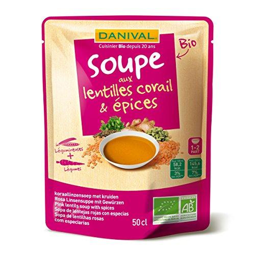 Danival - Soupe de Lentilles corail et épices bio - 50cl