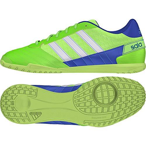 adidas Super Sala, Scarpe da Calcio da Uomo, Verde (Verde Solare/Bianco Ftwr/Blu Reale Team), 42 EU