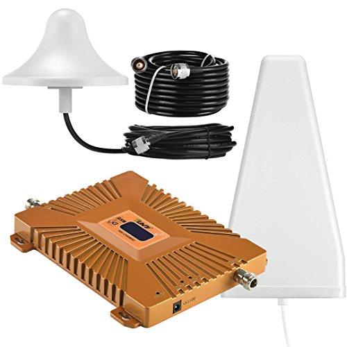Yuanj Ripetitore Segnale Cellulare 3G gsm 900 / 2100MHz Amplificatore per Cellulare WCDMA con antenne per Tim Wind VODAFONE 3