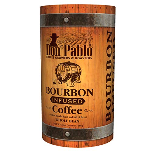 25oz Don Pablo Bourbon Infused Specialty Coffee - Whole Bean Coffee -25 ounce bag in collectible...