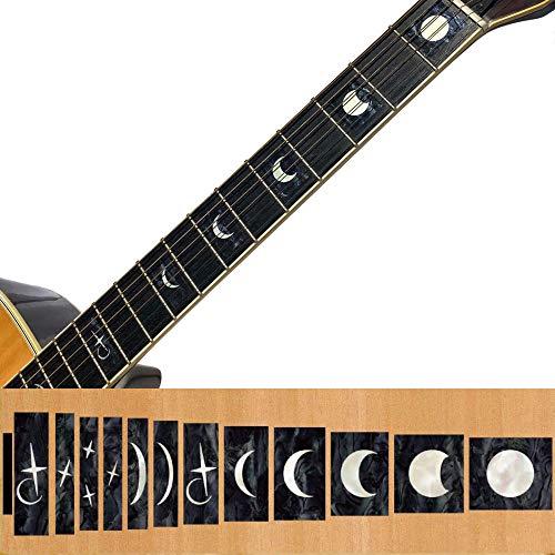 Inlay Sticker Griffbrett Position Marker für Gitarren & Bass–Moon Phases
