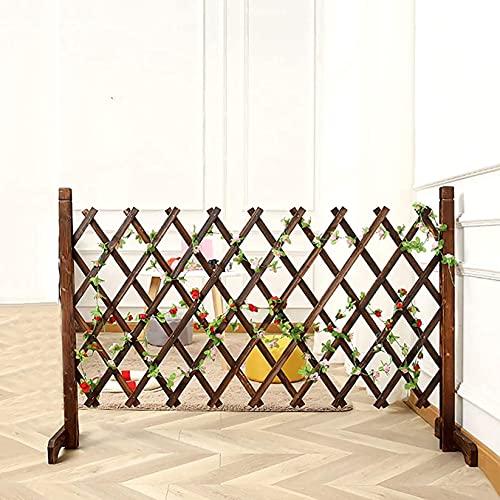 WXking Zäune ausdehnend Trellis Zaun freistehender Zaun 180x151cm Garten gewölbte Pflanze wachsende Unterstützung Bildschirm, Holzzaun