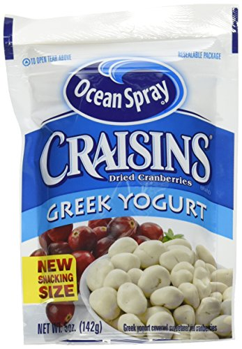 Ocean Spray Craisins Dried Cranberries, Greek Yogurt Covered, 5 Ounce (Pack of 12)