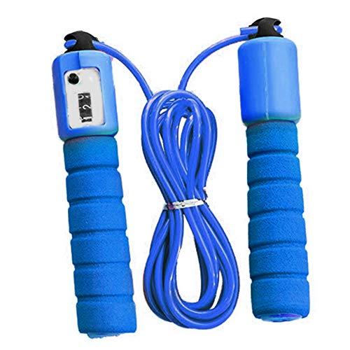 FLOX Corde à sauter avec compteur, poignée en éponge pour garçons et filles, exercice de fitness, 287 cm, corde à sauter réglable pour enfants avec design à roulement à grande vitesse.