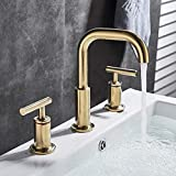 Grifo acabado en oro cepillado grifo del lavabo del baño grifo de la bañera grifo...