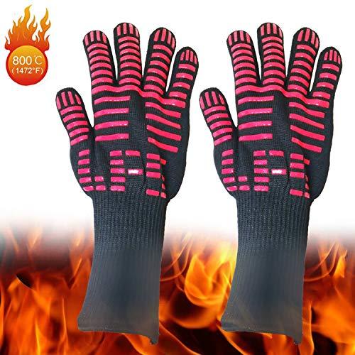 Peijco BBQ Grilling Handschoenen Extreme Hittebestendige Handschoenen Oven Grill & Barbecue Handschoenen Keuken Open Haard Accessoires Onderarm Beschermer Voor Koken Grillen Bakken(1 paar)