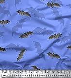 Soimoi Blau Baumwolle Ente Stoff Schatten & Fledermaus Tier