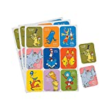 Fun Express DR Seuss Character Stickers (36PC) - Stationery - 4 Pieces