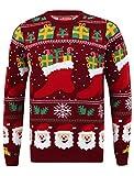 Weihnachtspullover Stocking Wallpaper Oxblood