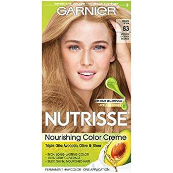 Garnier Nutrisse Nourishing Hair Color Creme 83 Medium Golden Blonde  Cream Soda   Packaging May Vary