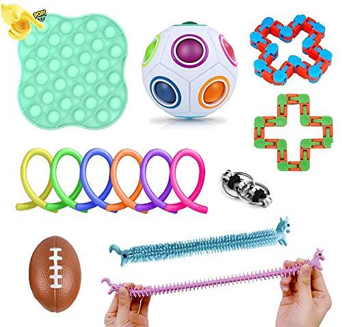 Boaber Sensory Fidget Toys Set Fidget Toy Pack, Giocattolo antistress e ansia, per bambini e adulti. Allevia lo stress e l'ansia, giocattoli speciali per autismo, ADHD (confezione da 14)