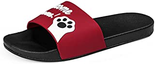 Hopscotch Girls Other Kitten Applique Sliders in Red Color