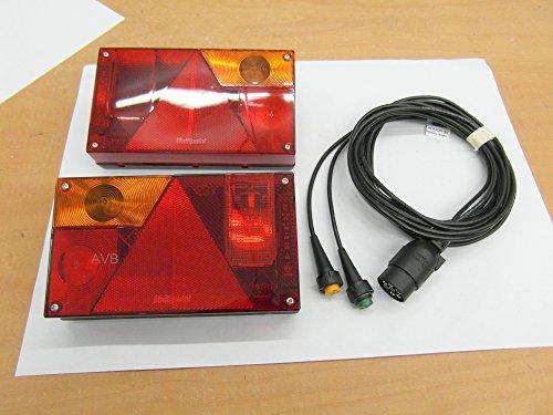 AVB Rücklichtpaket Aspöck Multipoint 1 li & re und NSL Kabel 7 pol. 4 m ohne RFS