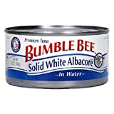 Bumble Bee Solid White Albacore in Water, 12-Ounce Can (Pack of 6)