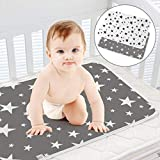 Baby Diaper Changing Pad SACONELL 2 Pack 19.6'' X 27.5'' Portable Waterproof Change