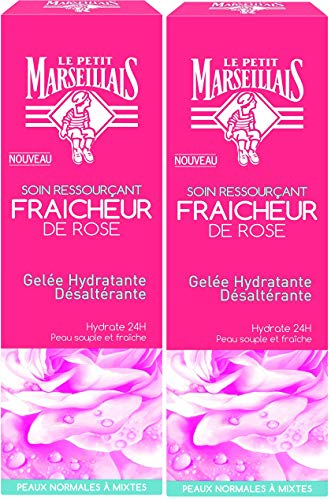 Le Petit Marseillais Feuchtigkeitsspendendes Gelee, desodorierend, Frische Rose, 50 ml, 2 Stück
