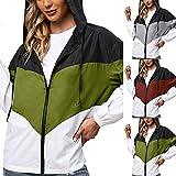 Chubasquero para mujer, impermeable, transpirable, para exteriores, con capucha, cortavientos, parka funcional, chaqueta para mujer, transpirable, impermeable, Verde militar., XL
