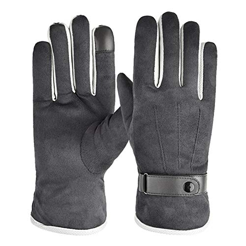 Touchscreen gloves, winter gloves, windproof, non-slip sports gloves for outdoor sports, such as skiing and cycling, suitable for men and women., I