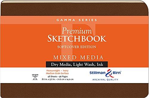 Stillman & Birn Gamma Series Softcover Sketchbook, 8.5' x 5.5', 150 gsm (Heavyweight), Ivory Paper, Medium Grain Surface