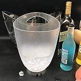 Slakr 4L Seau À Glace Led Changeant De Couleur Seau À Glace - Changements 7 Couleurs - Charge Actionnés Manuellement For Champagne Vin Bière Boissons Cooler