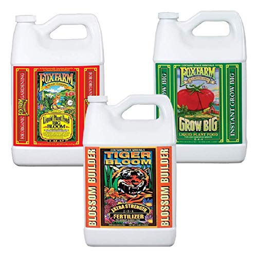 Fox Farm Liquid Nutrient Trio Soil Formula: Big Bloom, Grow Big, Tiger Bloom (Pack of 3 - 1 Gallon...