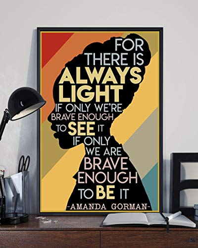 BEST Amanda Gorman The Hill We Climb Poster - The Squad Wall Art, Home Decor, Digital Vertical Poster 24x36'' No Frame