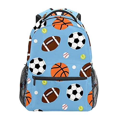 Zaino sportivo da basket, calcio, golf, zaino per scuola, scuola, viaggi, escursionismo, moda per computer portatile, per donne, uomini, adolescenti, casual, borse di tela