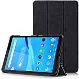 TTVie Funda para Lenovo Tab M8, Carcasa Ultra Delgado y Ligero con Cubierta de Soporte para Lenovo Tab M8 - Tablet de 8' Modelo de 2019, Negro