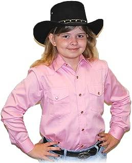 Sunrise Outlet Children's Solid Button Down Cotton Western Cowboy Shirt