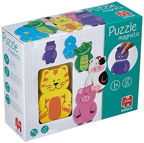Goula - Puzzle de madera magnético intercambiable de animales para niños a partir de 1 año