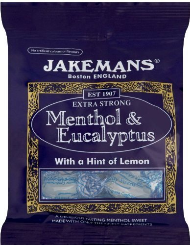 Jakemans Menthol Eucalyptus Lozenge Bag 100g - CLF-JM-076 by Jakemans