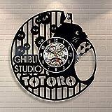 FUTIIF Totoro Plush_Horloge Murale Exclusive en Disque Vinyle Saat No LED