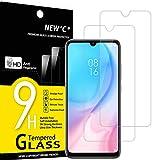 NEW'C 2 Unidades, Protector de Pantalla para Xiaomi Mi A3, Antiarañazos, Antihuellas, Sin Burbujas, Dureza 9H, 0.33 mm Ultra Transparente, Vidrio Templado Ultra Resistente