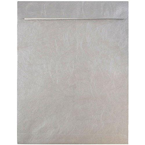 JAM PAPER Reißfeste Tyvek Open End Katalog Umschläge - 254 x 330,2 mm - Silber - 25/Packung