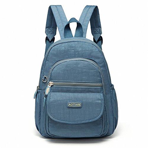AOTIAN Mini Rucksack Für Mädchen Und Damen Leichtgewicht Kleine Lässiger Daypacks Tasche 7 Liter Hellblau