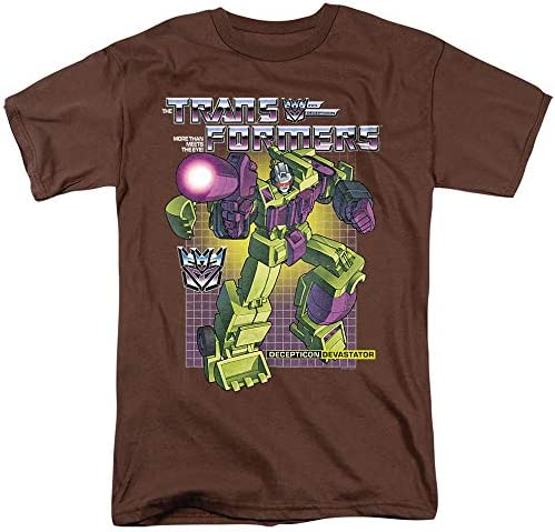 Transformers Devastator Unisex Adult T Shirt for Men and Women Coffee 2X Large product image
