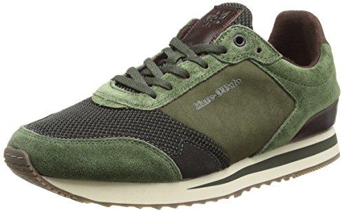 Marc O'Polo Herren Sneaker, Grün (Oliv 415), 44 EU