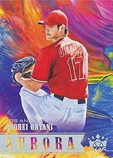 2018 Panini Donruss Diamond Kings - Aurora - Shohei Otani (Ohtani) Los Angeles Angels Baseball Rookie Card SP Short Print #A10