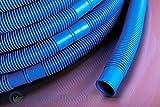 AquaOne Poolschlauch 32mm blau 3 Meter I Hochwertiger Pool Schlauch für Garten & Schwimmbad I Solarschlauch I Schwimmbadschlauch I Saugschlauch I Pumpenschlauch I Flexibel Wasserschlauch