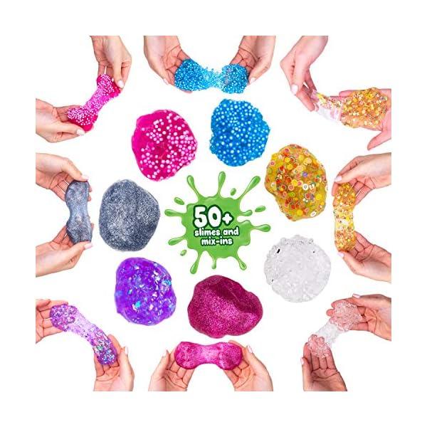 DIY Slime Kit Toy for Kids Girls Boys Ages 5-12, Glow in The Dark Glitter Slime Making Kit - Slime Supplies w/ Foam… 9