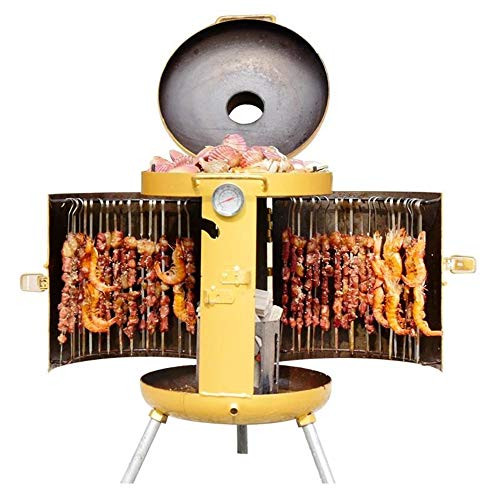 AAGYJ Vertical Barbecue Grills, Charcoal BBQ Grill, Adjustable Firepower, Barbeque Grill & Smoker for Garden Camping Outdoor Cooking & Grilling