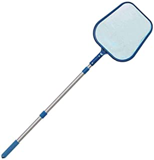 Dongplayer Pool Leaf Skimmer Net with Telescopic Pole, Deep Bag Net Cleaning Debris Leaf Rake Cleaner Supplies for Spa, Po...